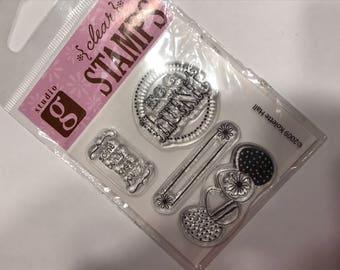 Egg Hunt clear stamp set, 30-40 mm (BB4)