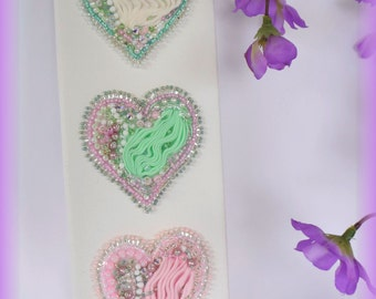 All you Need is Love! Embroidery Hearts Decorative Wall Hanging
