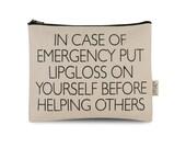 Notfall Lipgloss Beutel
