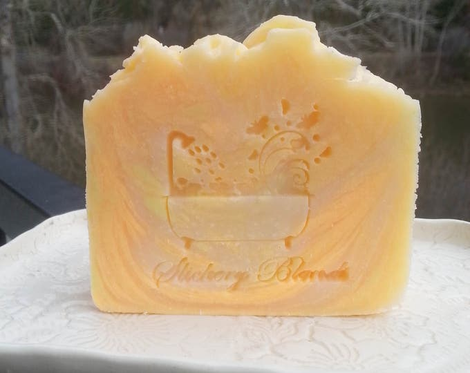 Pineapple Papaya scented bar soap, handmade,  gift soap, holiday gift,  stocking stuffer, birthday gift, housewarming gift