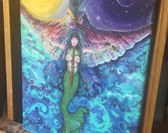 Gypsy Mermaid, archival Giclee' print on canvas, 11x14""