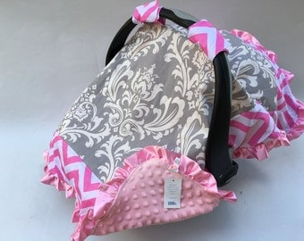 45% off baby Car Seat Cover Canopy Blanket, Nursing Breastfeeding Mon's Infant Car Seat Cover Canopy Pink, Baby Girl, fit most car seat