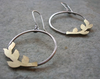 Olive branch earrings