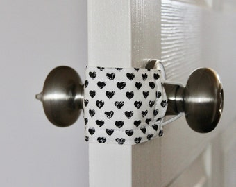 Love Doodles Door Silencer, Door Jammer, Nursery Door Silencer, Door cushion, Door latch cover, baby shower gift, PATENTED LATCHY CATCHY