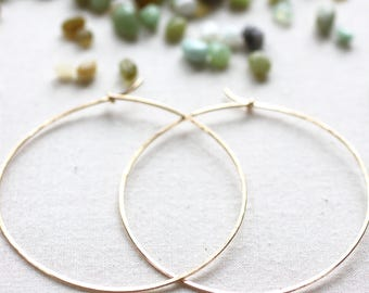 My New Gold Hoops. 14/20 Karat Gold Filled Hoops. Extra Large Gold Hoops. Essential Boho Minimalist Jewelry. Custom Made by Bellacornicello