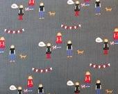 HALF YARD cut of Windham Fabrics - Neighborhood by Alyson Beaton - People in Gray - Pattern #41282-4