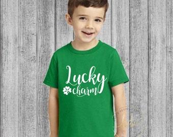 Childrens St Patricks Day Shirt/Lucky Charm Shirt/Toddler St Patricks Day Shirt/Kids St Patricks Day/Youth St Patricks Day