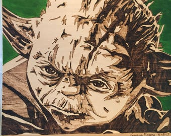 Wood Burning Yoda