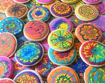 12  Tie dye themed cookies