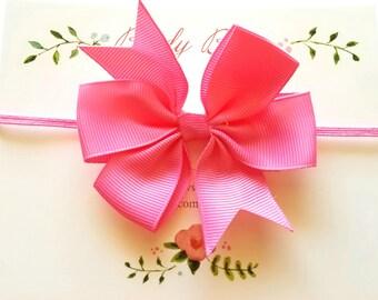 Bubble Gum Pink Baby Bow Headband, Baby Headbands, Infant Headbands, Baby Girl Headbands, Infant Bow, Baby Bow, Girl Bow,Girl Headbands
