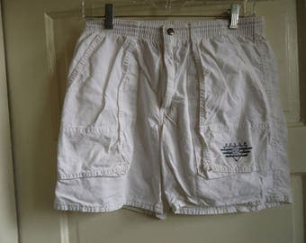 Vintage 80s OP White Cotton Shorts sz S/M