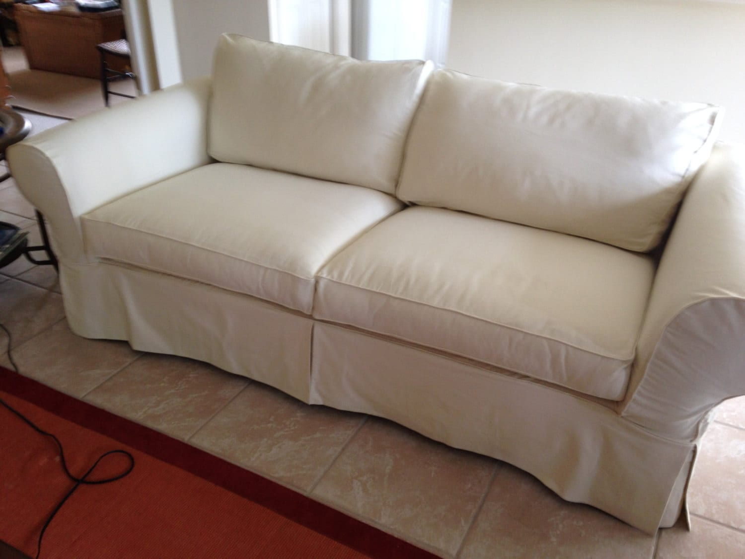 4 cushion love seat under 61 inches custom slipcover