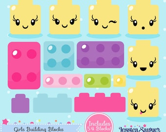 INSTANT DOWNLOAD - Building Block Clipart and Vectors