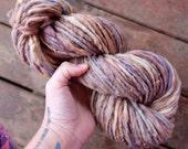 Bulky hand spun yarn Big single yarn Thick hand spun yarn Grey yarn Natural wool yarn Canadian yarn Ideal for weaving Bulky weight yarn 76y