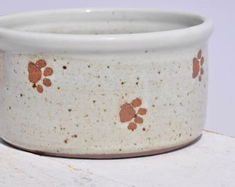 Ceramic Dog Bowl, Handmade Dog Bowl, Pottery Dog Bowl, Puppy Bowl