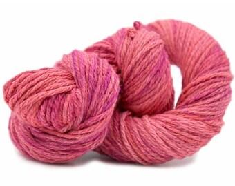 Hand-dyed Cotton Linen Lino Degrade - Raspberry