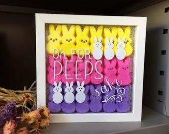 Easter decor, Easter Peeps, Oh For Peeps Sake, Easter, peeps, Easter bunnies, Spring decor, farmhouse spring decor, Peeps decor