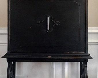 SOLD Antique Secretary Desk Painted Milk Paint Farmhouse Rustic Style