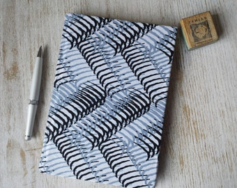 Large Hardcover African print Journal Notebook Sketchbook Jotter - A5 - cartridge paper - 90 pages 140 gsm - black and white design