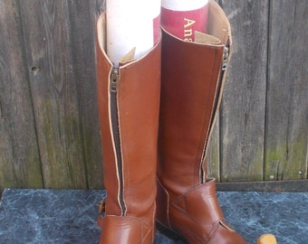 Vintage Leather Equestrian Boots Large