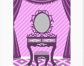 Needlepoint Kit or Canvas: Purple Foyer