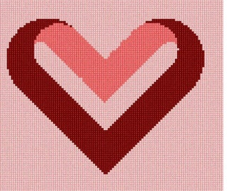 Needlepoint Kit or Canvas: Heart Fold