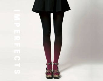 BZR Ombré Tights in Vamp - SALE