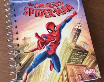 Spider-Man Little Golden Book Recycled Journal Notebook
