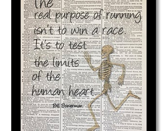 Bill Bowerman Quotes , Bill Bowerman Print, Running Art Print, Running Print,8x10 Vintage Dictionary Art, Dictionary Art Print, Love Running
