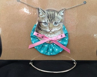 Turquoise Kitty Necklace