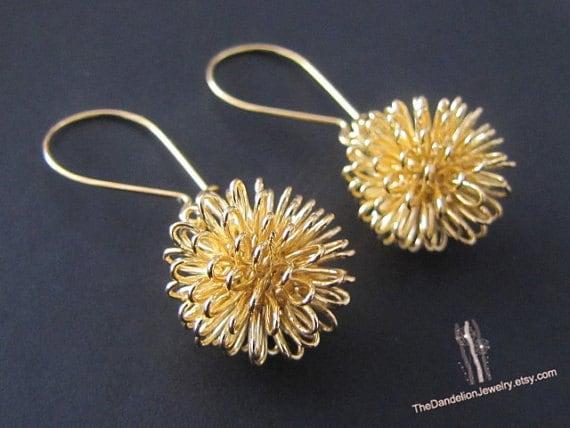 dandelion earrings jewelry drop earrings dangle earrings