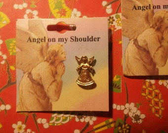 2 Angel on My Shoulder Angel Pins