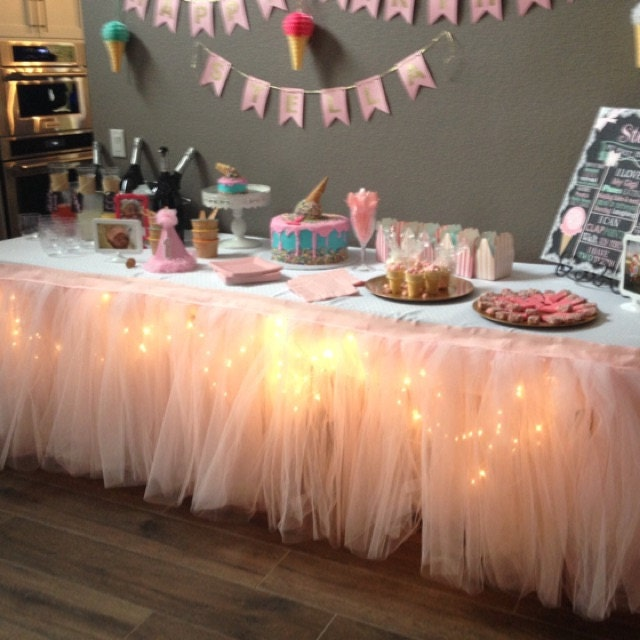 tutu table skirt custom made wedding birthday baby shower. Black Bedroom Furniture Sets. Home Design Ideas
