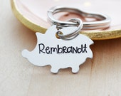 Hedgehog Keychain - Hand Stamped Hedge Hog Keychain - Personalized Name Key Ring - Kid's Zipper Pull - Back Pack Accessory