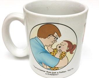 1983 Family Circus, Clay In Mind by Bil Keane Mug, Cartoon Mug, Daddy, Grandparents, Vintage Mug