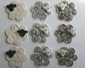 Reserved for Victoria Momsy - set of 9 sheep ornaments