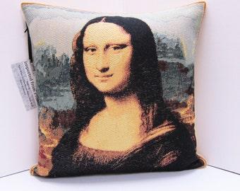 Toss Pillow Tapestry Mona Lisa