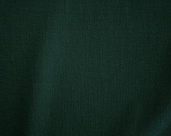 """Hunter Green Cotton Gauze Fabric 52"""" Wide Per Yard"""
