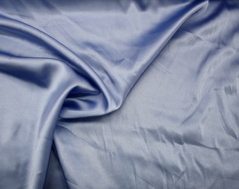 "Sky Blue Silk Charmeuse Fabric 43/45"" Wide Per Yard"