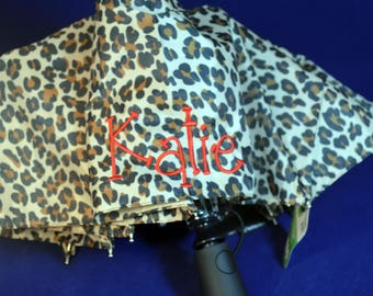 Personalized Monogramed Animal Print Umbrella, your font choice