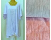 A-Line Sundress Lavender, Pink or Blue Knee or Midi Cotton, House Beach Dress, Short Sleeve Gauze Cover Up Medium, Large, Plus Size