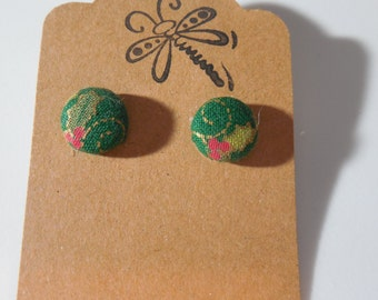 Holly & Ivy Button Earrings