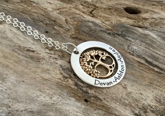 Mothers Family Tree, Mothers  Gift for Grandma, Mother Necklace, Grandma Gift, Mothers  gift for MOM from Daughter, Son, Husband