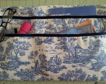 BestSeller--LAVENDER STREET COLLECTION--Navy Blue & Ivory Toile