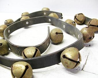 Vintage Sleigh Bells Leather Harness Bells
