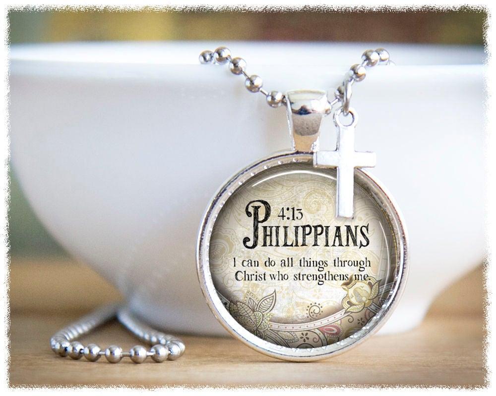 Philippians 4 13 Jewelry Inspirational Jewelry Religious