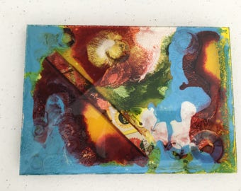 Abstract Resin Multi-Media Painting