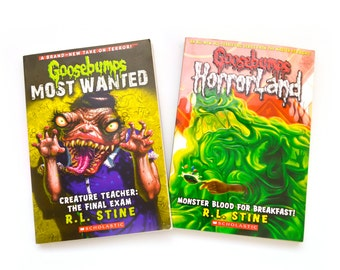 Goosebumps Books Lot of 2 HorrorLand R.L. Stine