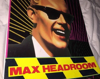 1987 Max Headroom Calendar TV Series Promotional Calendar.  RARE!  Can't find another!