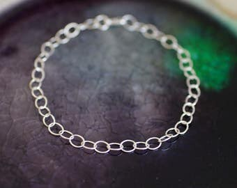 Sterling Silver Charm Bracelet - Custom Size Bracelet - Toddler Bracelet - Girl Bracelet - Woman's Bracelet - Charm Bracelet - Silver Charms
